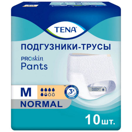 Подгузники-трусы TENA ProSkin Pants Normal /ТЕНА ПроСкин Пантс Нормал, 10 шт.