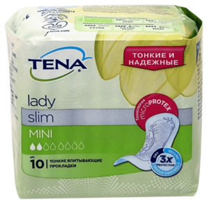 Впитывающие прокладки TENA Lady Slim Mini /ТЕНА Леди Слим Мини